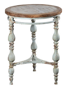 Distressed Wooden Accent Table