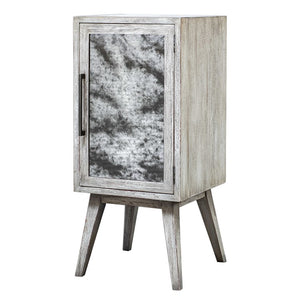Glass & Wood Wine Bar Cabinet