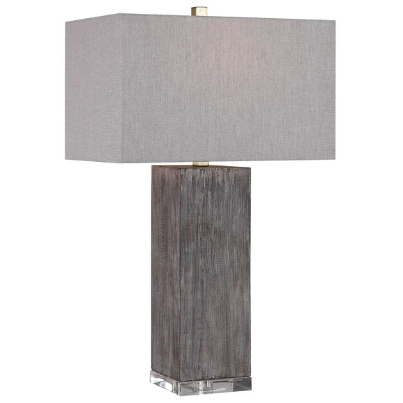 Rustic Wood Look Table Lamp