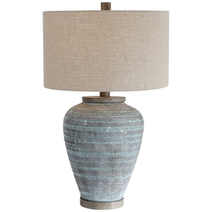 Blue Crackle Glaze Textured Table Lamp