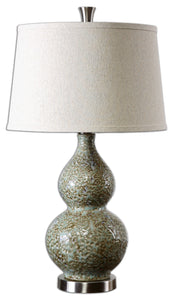 Dimpled Ceramic Glazed Lamp