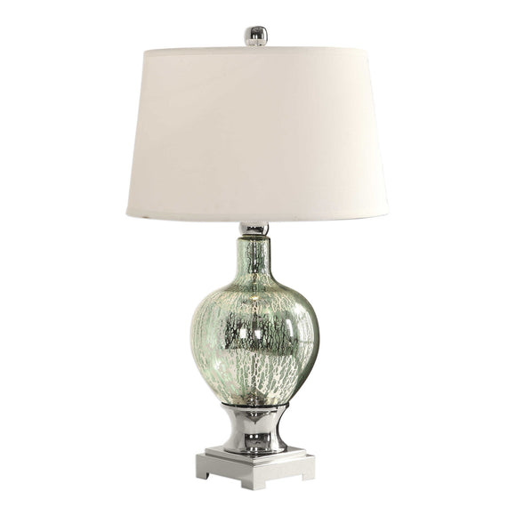 Mercury Blue-Green Glass Table Lamp