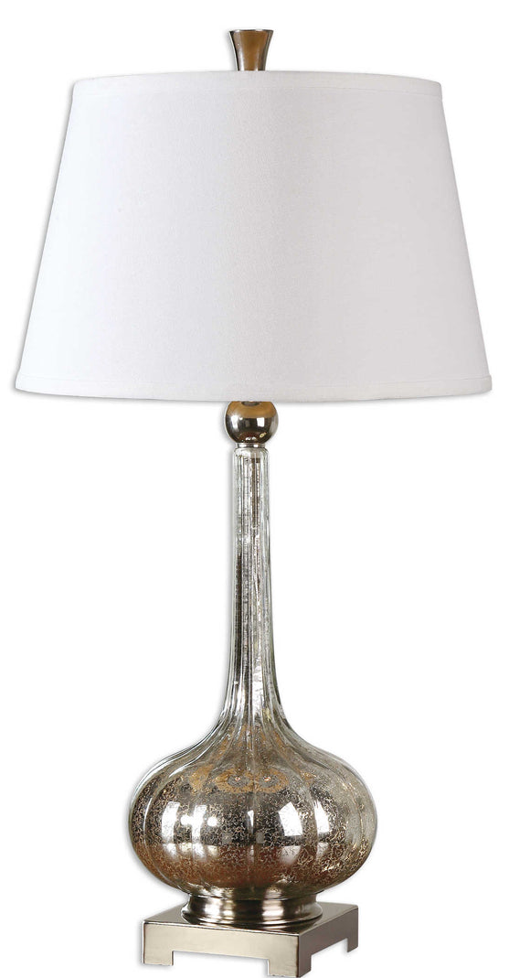 Fluted Mercury Glass Lamp