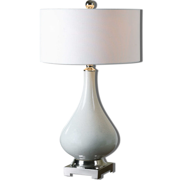 Aged Ivory Ceramic Table Lamp