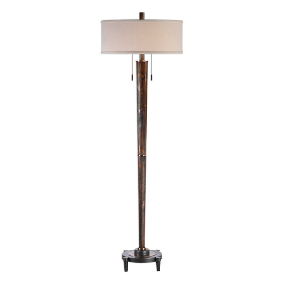 Plantation-Grown Hardwood Floor Lamp