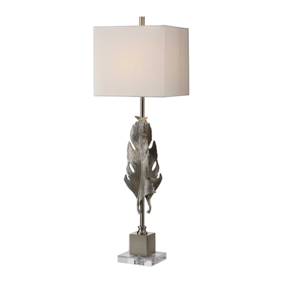 Metallic Silver Champagne Buffet Lamp