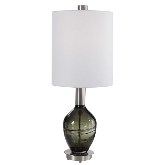 Sage Green Glass Buffet Lamp