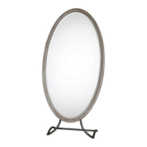 Mahogany Free Standing Large Mirror