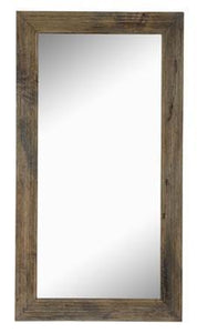 "Mango Wood 70"" Mirror with Iron Hardware"