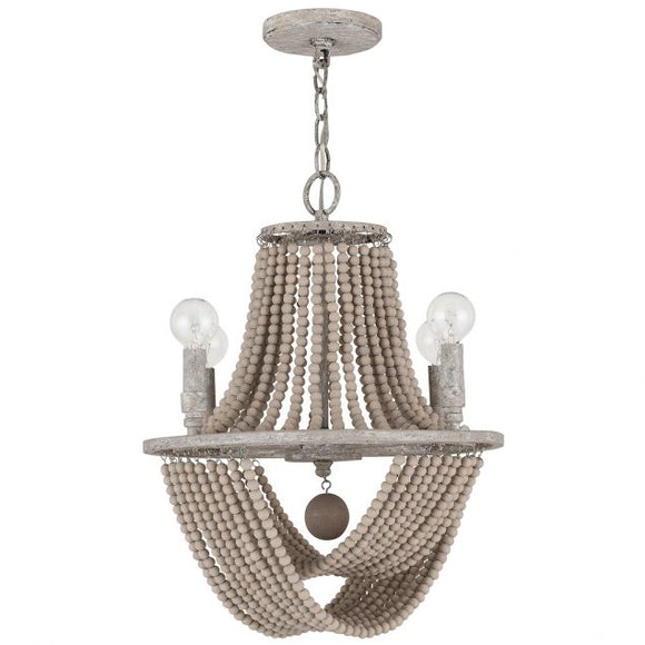 Mystic Sand 4-Light Beaded Chandelier