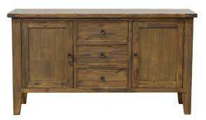 All Wood Sustainable 2-Door, 3-Drawer Buffet