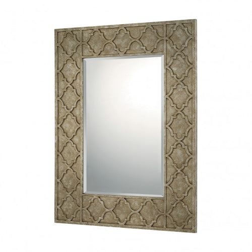 Silver with Distressed Bronze Decorative Mirror