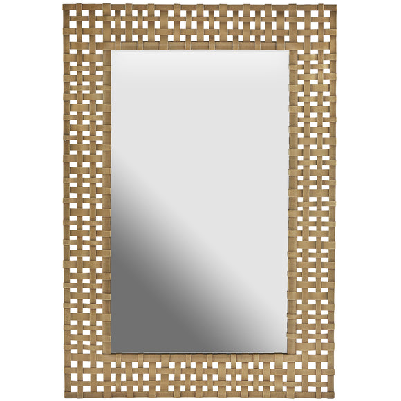 Aged Brass Decorative Mirror