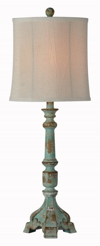 Weathered Teal Buffet Lamp