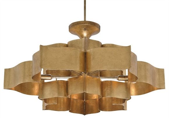 Antique Gold Leaf Chandelier