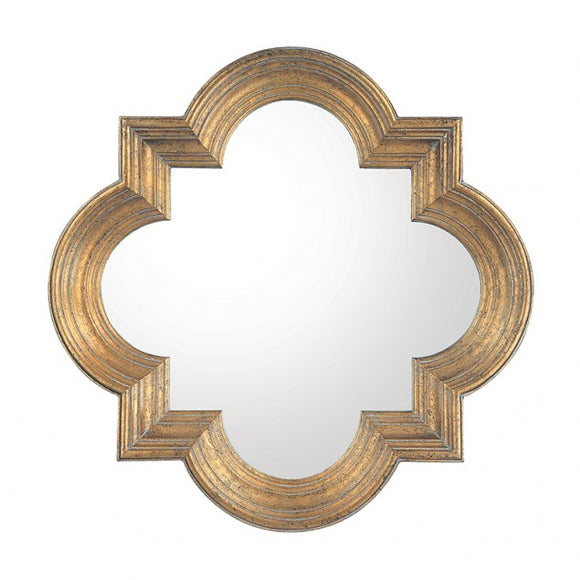 Antiqued Gold Mirror