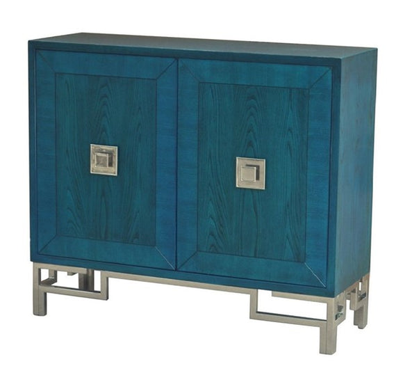 Cobalt Blue 2-Door Cabinet