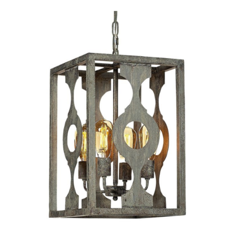 Open Cage Linear Chandelier