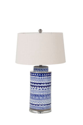 Blue and White Hand-Painted Ceramic Table Lamp