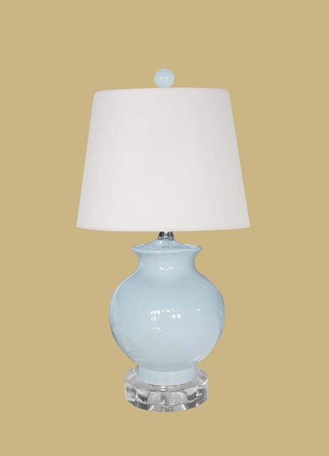 Porcelain Palladian Blue Mini Vase Lamp