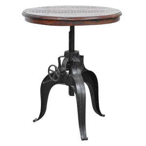"30"" Height Adjustable Wood Crank Table"