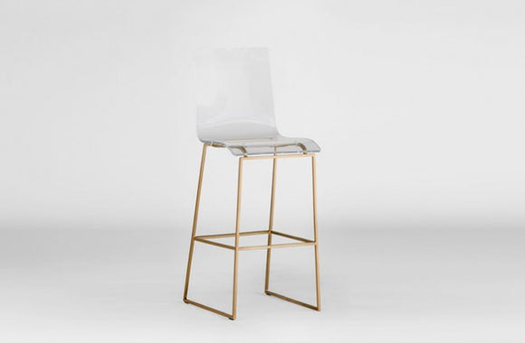 Clear Acrylic Stool - Available in Bar and Counter Height