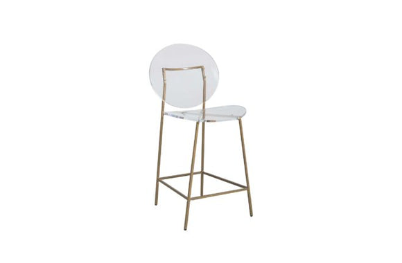 Iron and Clear Acrylic Stool - Available in Counter and Bar Height