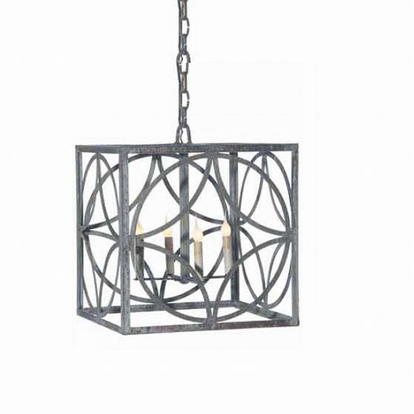 Wrought Iron Chandelier (Shown in Deep Ocean Finish)