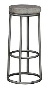 F1135 - Wood And Wrought Iron Bar Stool