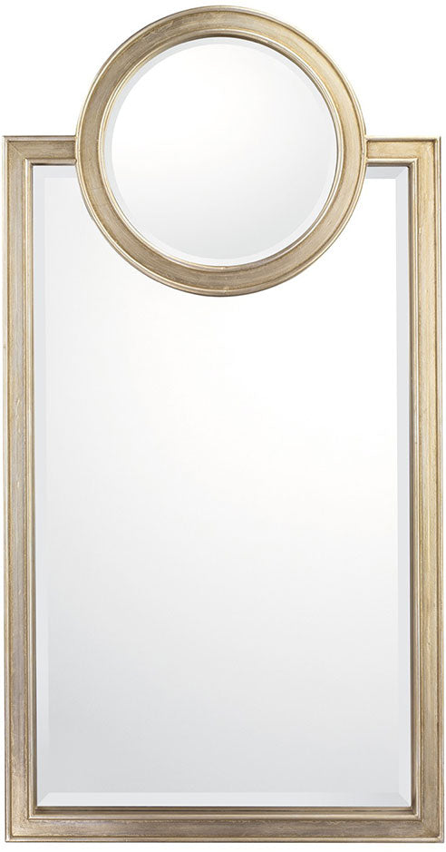 Brushed Silver Decorative Mirror