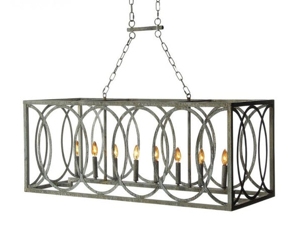 Linear Chandelier (Shown in Deep Ocean Finish)