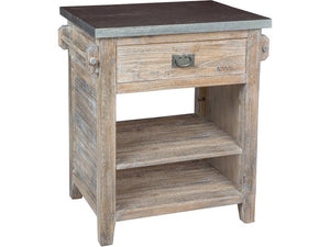 Zinc Top Wooden Kitchen Island