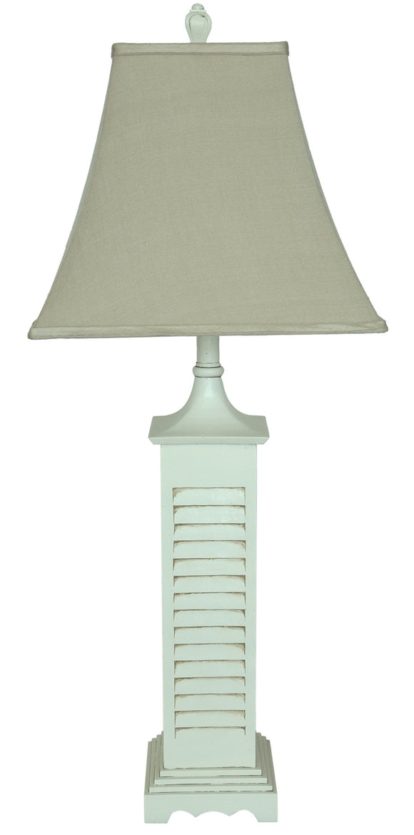 Grey Washed Shutter Table Lamp