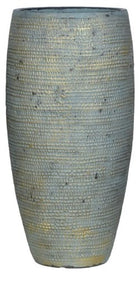 Medum Concrete-Aged Brass Finish Vase