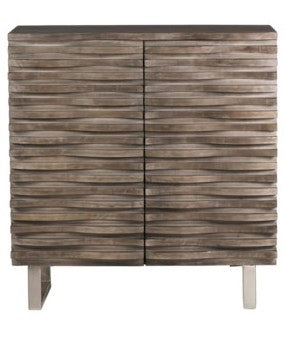 Mango Wood 2-Door Grey Cabinet