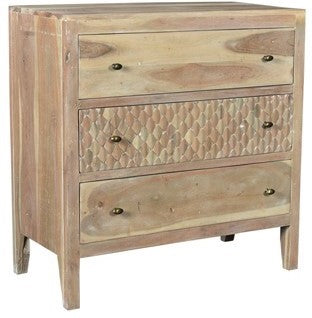 NEW ARRIVAL - Mango Wood 3-Door Blonde Chest