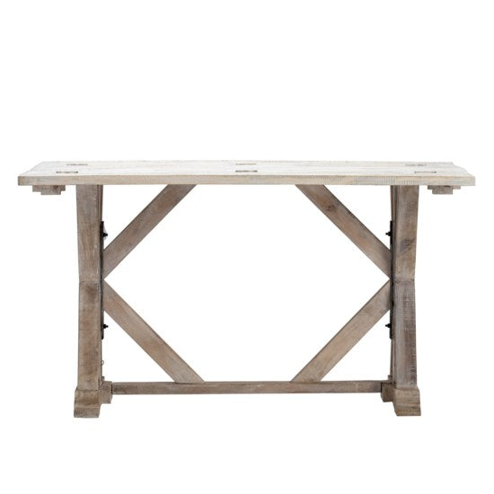 NEW ARRIVAL - White Wash Mango Wood Flip Out Table