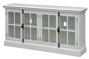 White Oak 4-Door Media Console