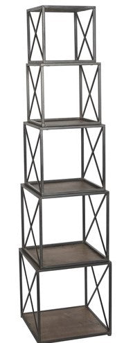 Metal & Wood Stackable Etagere