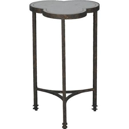 Petite Stone Top Side Table