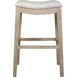 Counter and Bar Height Linen Distressed Finish Stool