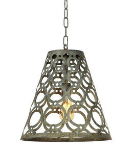 Hanging Cone Light (Shown in Deep Ocean Finish)