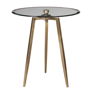 Beveled Edge Glass Accent Table