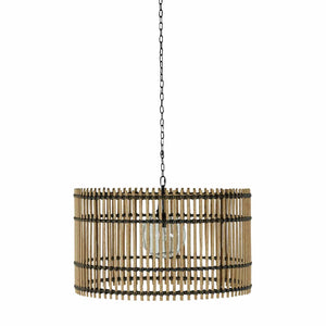 Outdoor or Indoor Drum-Shaped Chandelier