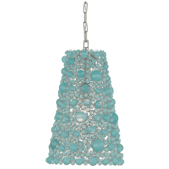 Frosted Aqua Pendant Light
