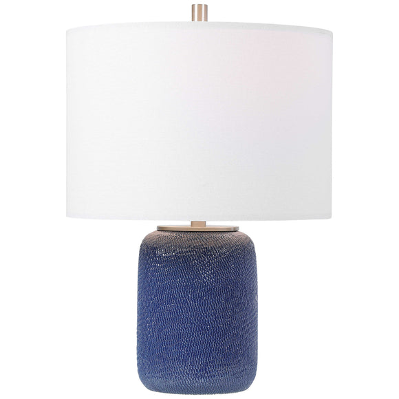Cobalt Blue Ceramic Table Lamp
