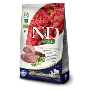 Farmina Natural & Delicious Quinoa Functional Weight Management Lamb Adult Dog, 5.5-lb