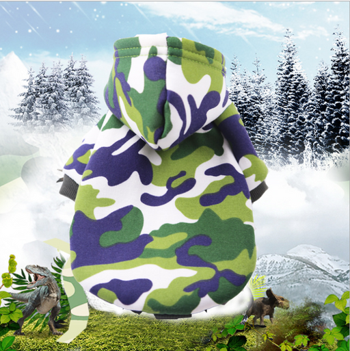 Pet clothing camouflage clothing
