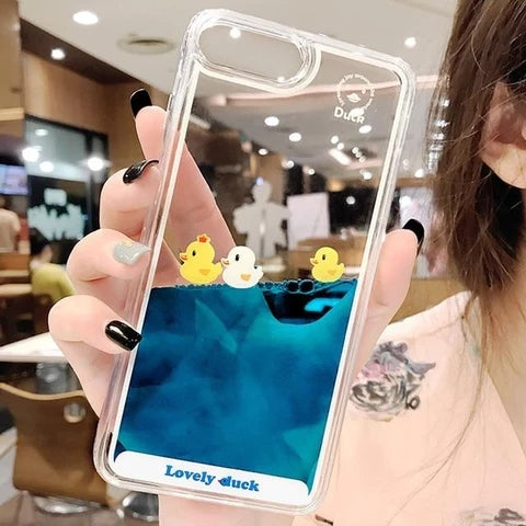 Swimming duck phone case
