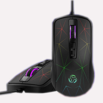 G800 4000DPI 7Button USB Wired RGB Backlight Ergonomic Programmable Optical Gaming Mouse